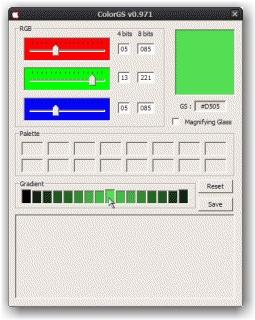 ColorGS (dégradé circulaire - sélection couleur intermédiaire)