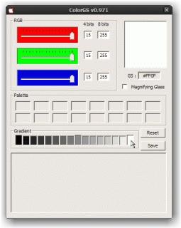 ColorGS (dégradé - sélection couleur d'arrivée)