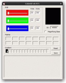 ColorGS (dégradé - sélection première couleur)